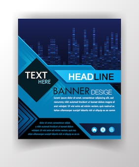 Abstract business cover template