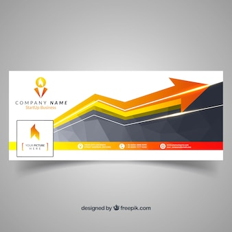 Abstract business facebook cover