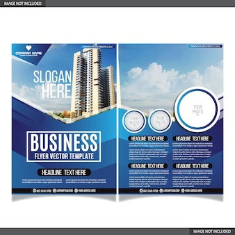 Abstract business flayer collection with modern shapes