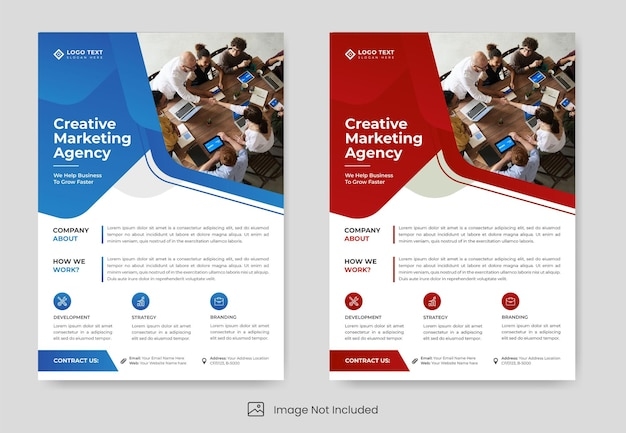 Abstract business flyer template design
