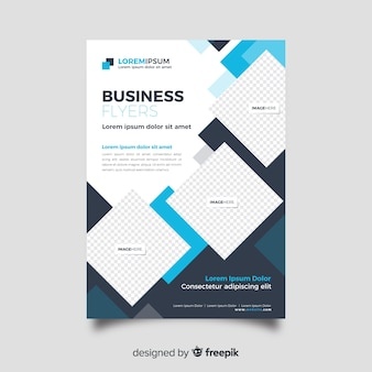 Abstract business flyer template flat design
