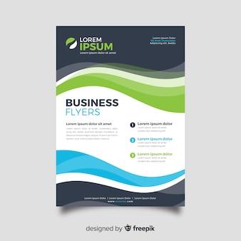 Abstract business flyer template flat design