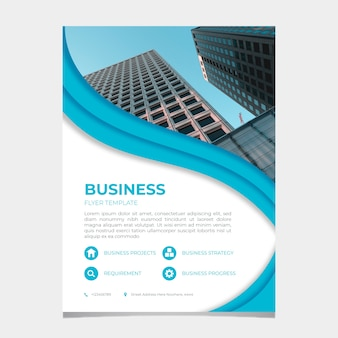 Abstract business flyer template with image