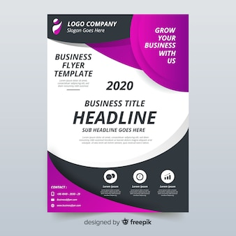Abstract business flyer template