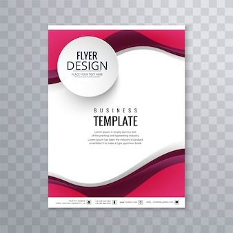 Abstract business flyer wave