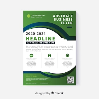 Abstract business flyer with flat design