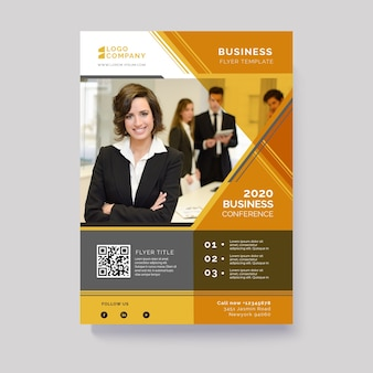 Abstract business flyer with image