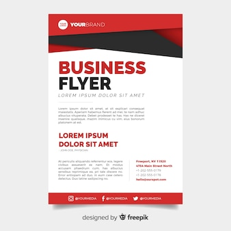 Abstract business flyer with modern design
