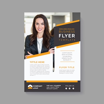 Abstract business flyer with pic