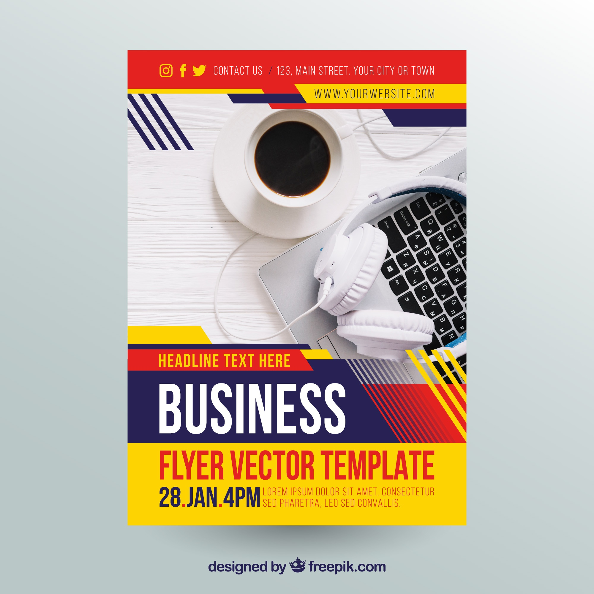 Abstract business flyer