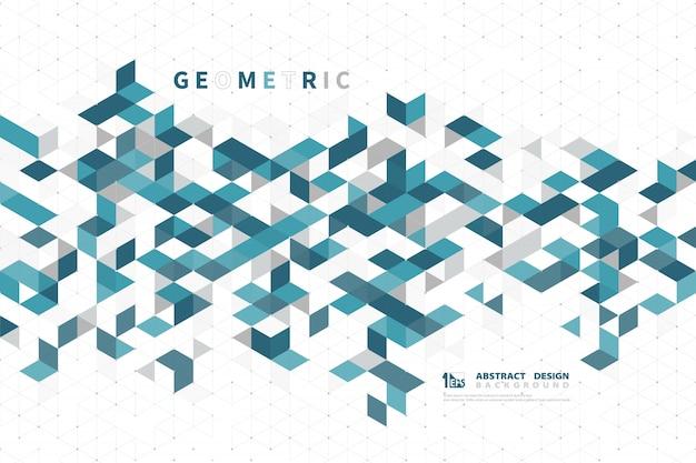現代技術の正方形の幾何学的設計の抽象的なビジネスグリーン色。