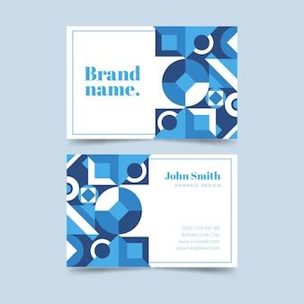 デザインとテキストの抽象的なビジネスアイデンティティカード