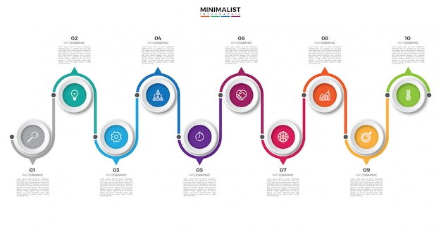 Abstract business infographic timeline