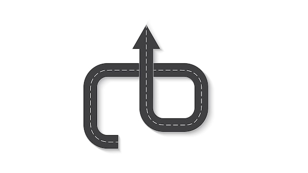Abstract business infographics in the form of an automobile road with road markings. eps 10.