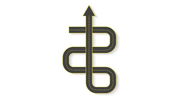 道路標示付きの自動車道路の形で抽象的なビジネスインフォグラフィック。 eps10。