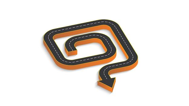 道路標示のある自動車道路の形で抽象的なビジネスインフォグラフィック。 eps10。