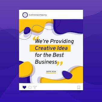 Post di instagram di affari astratti