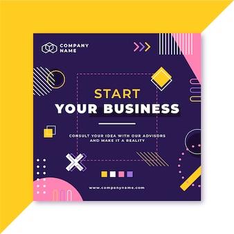 抽象ビジネスインスタグラム投稿