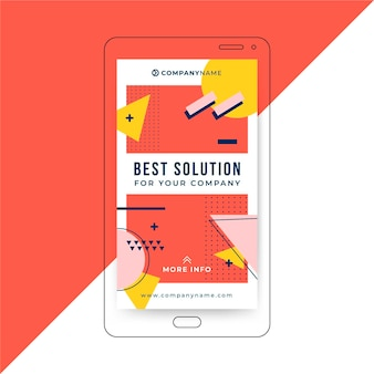 Abstract business instagram story