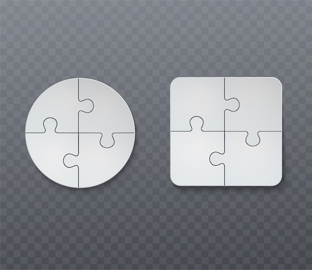 Abstract business jigsaw puzzle.