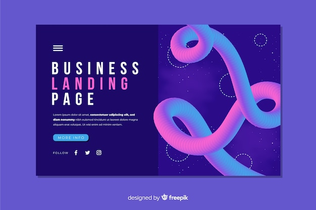 Abstract business landing page template
