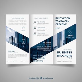 Abstract business leaflet