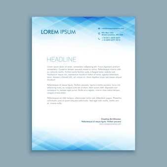 Abstract business letterhead template