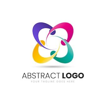抽象ビジネスロゴデザインテンプレート