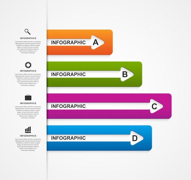 抽象的なビジネスオプションインフォグラフィックテンプレート。