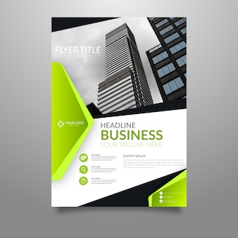 Abstract business poster template with photo