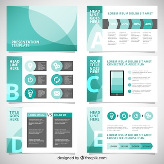 Presentation vectors photos and psd files free download abstract business presentation with infographic friedricerecipe Gallery