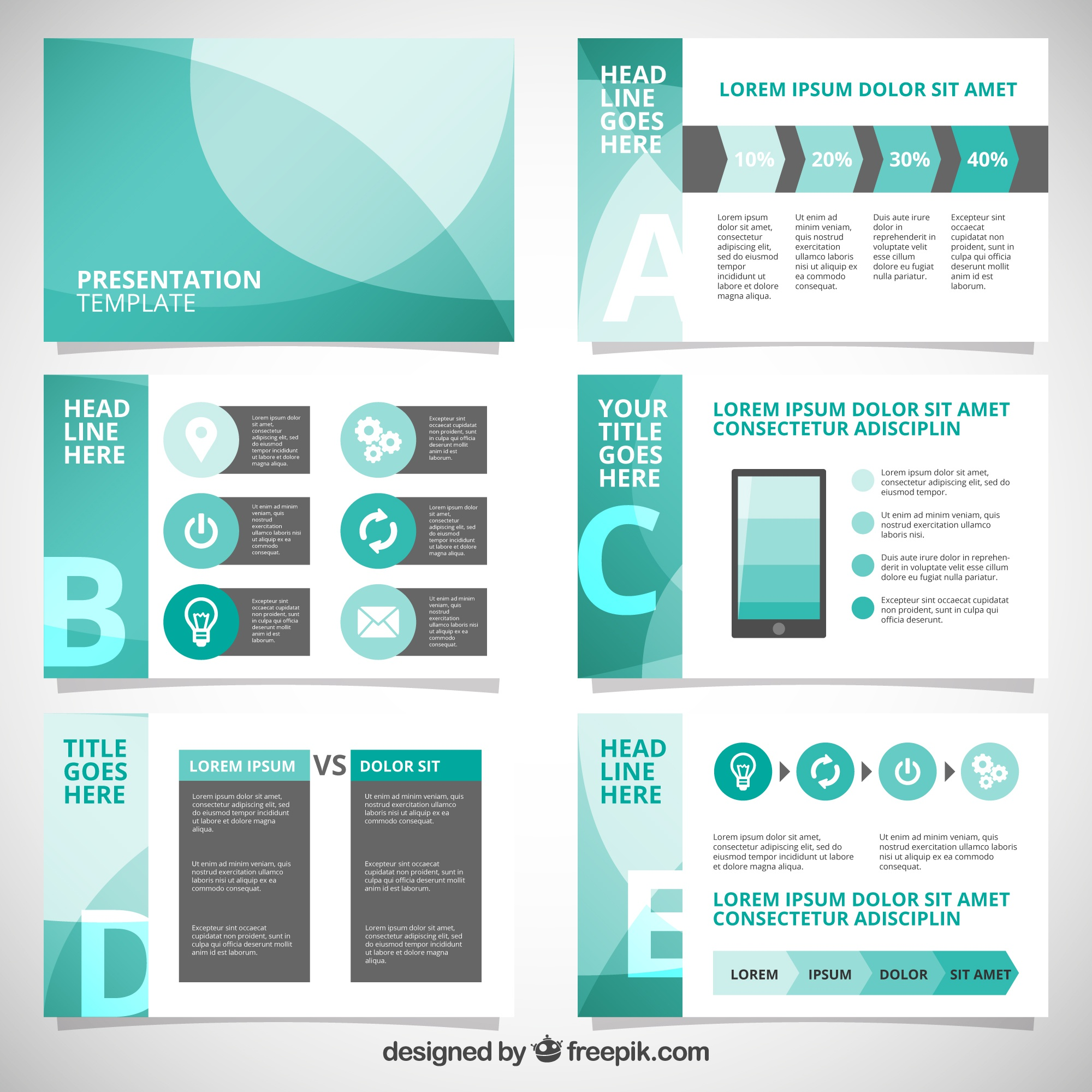 Abstract business presentation with infographic