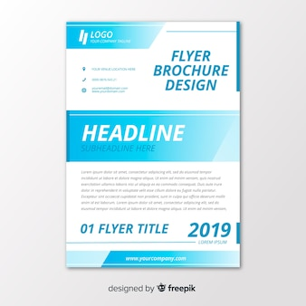 Abstract business professional flyer template