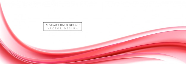 Abstract business red wave banner