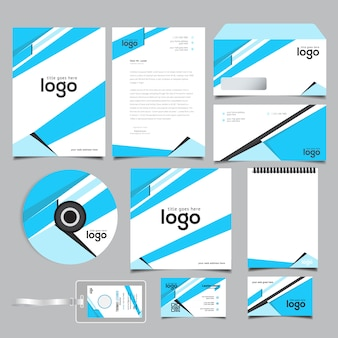Abstract Business Stationary Identity Design
