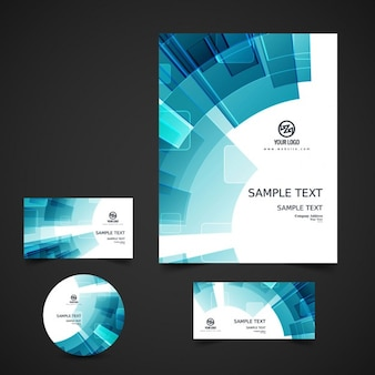 Abstract business stationery