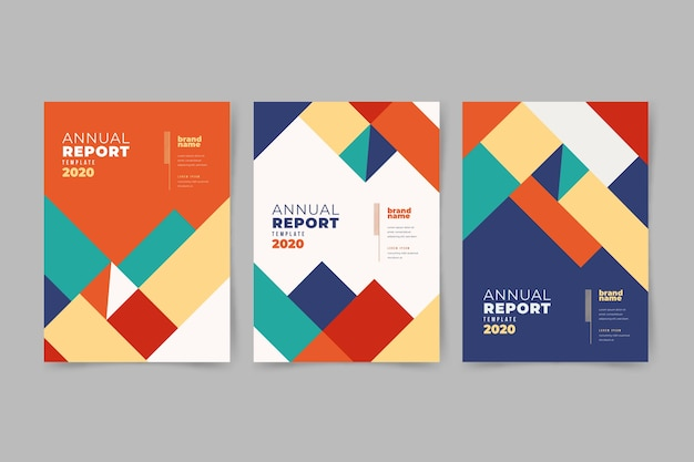 Abstract business templates with geometrical shapes
