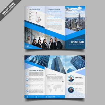 Abstract business trifold brochure template