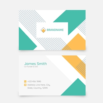 Abstract business or visiting card in front and back side.