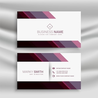 Abstract business visiting card with diagonal shapes