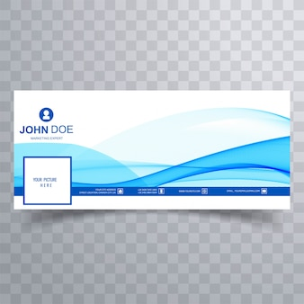 Abstract business wave facebook banner for timeline