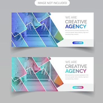 Abstract business web banner design