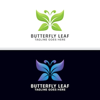 Абстрактный векторный дизайн логотипа бабочки