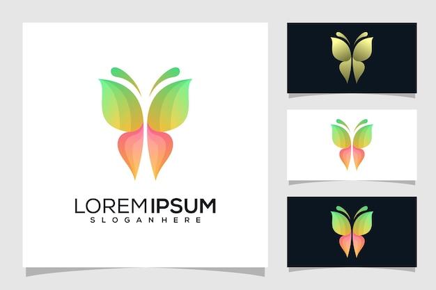 抽象的な蝶のロゴのデザイン