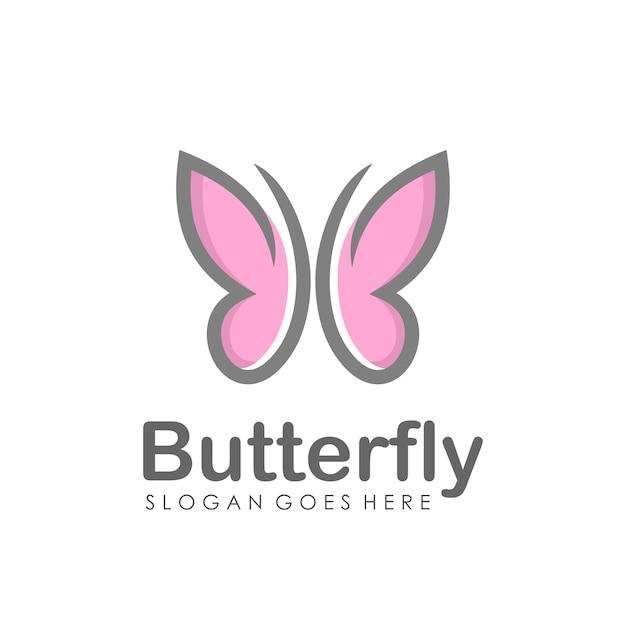 抽象的な蝶のロゴデザイン