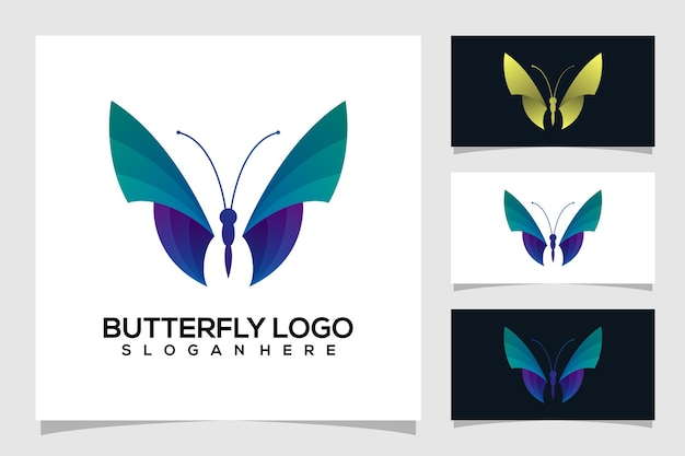 Abstract butterfly logo illustration