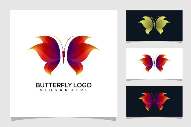 Абстрактная бабочка логотип иллюстрации