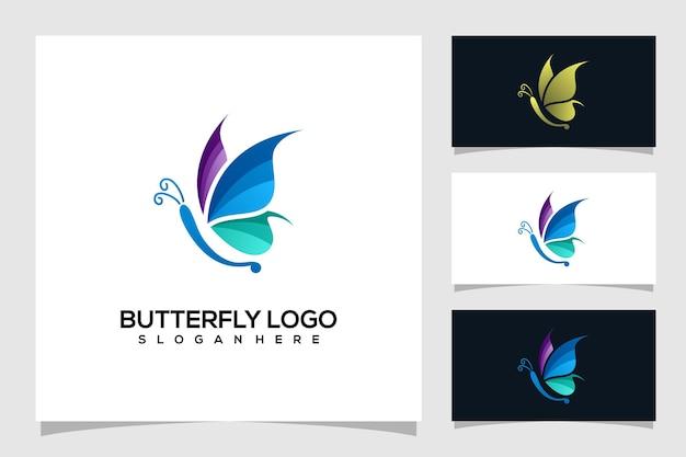 抽象的な蝶のロゴの図