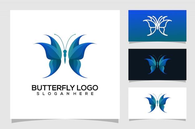Абстрактная бабочка логотип