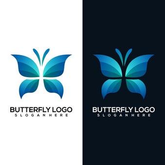 抽象的な蝶のロゴ